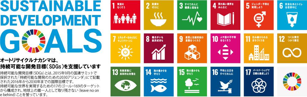 オートリサイクルナカシマは、持続可能な開発目標(SDGs)を支援しています